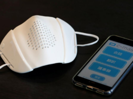The C-Mask from Donut Robotics can translate and transcribe speech and connect to bluetooth.